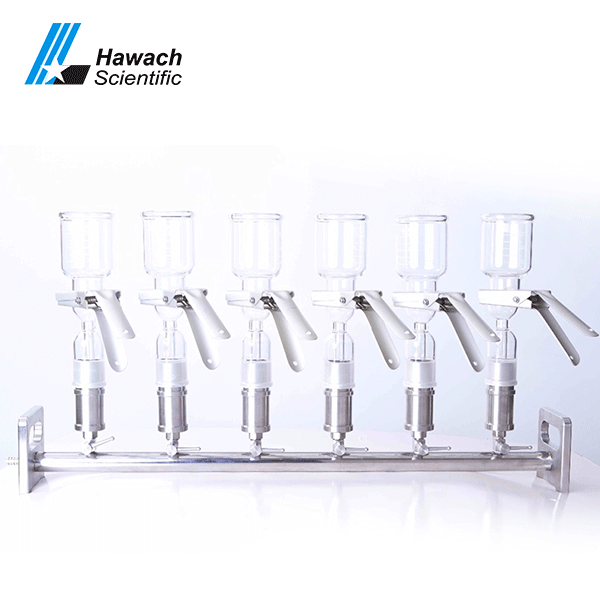 Glass Six- Branches Vacuum Filtrations